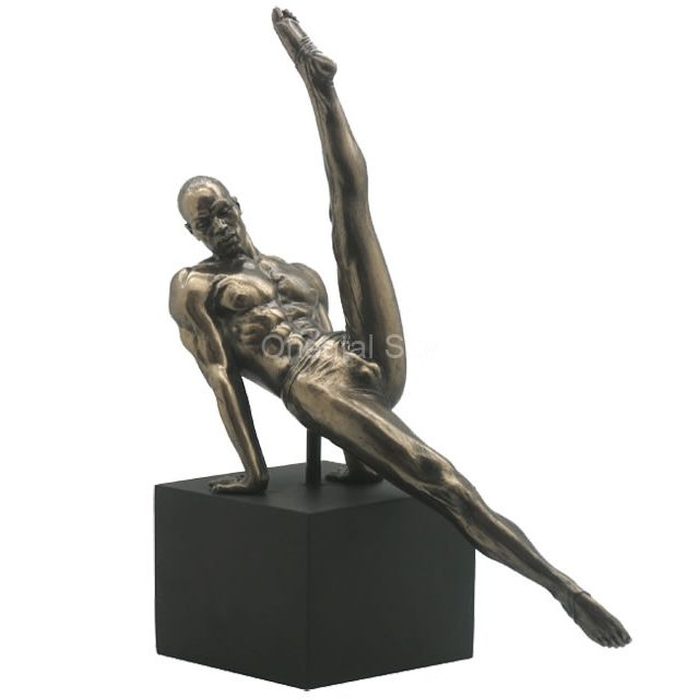 Life Size Bronze Gymnastic Athlete Man Statue