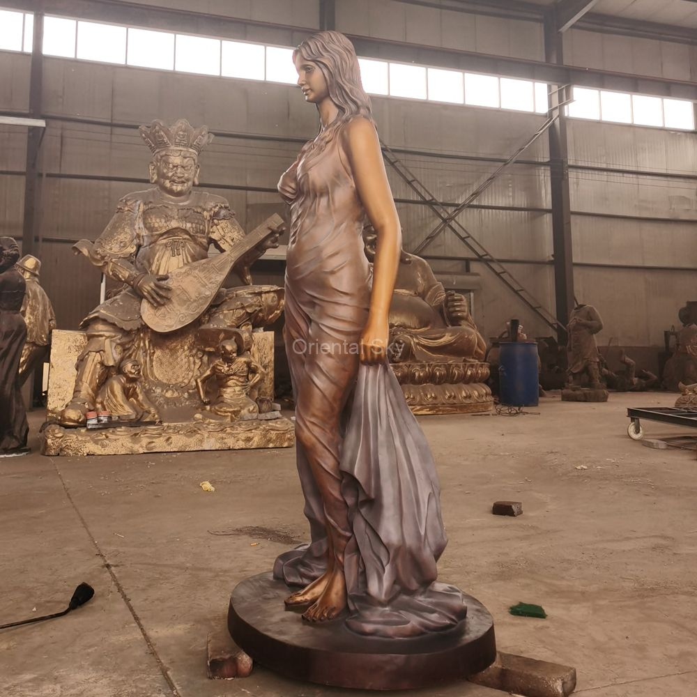 Life Size Bronze Woman Art Statue Copper Lady Art Sculpture