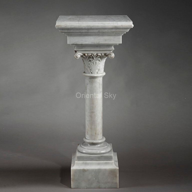 Customized Marble Stone Pedestal and Pillar for Statues