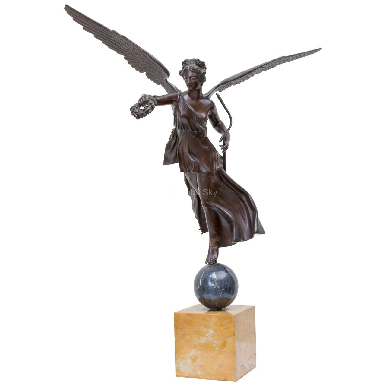 Bronze Angel with Arrow Art Statue Metal Lady Figure Sculpture
