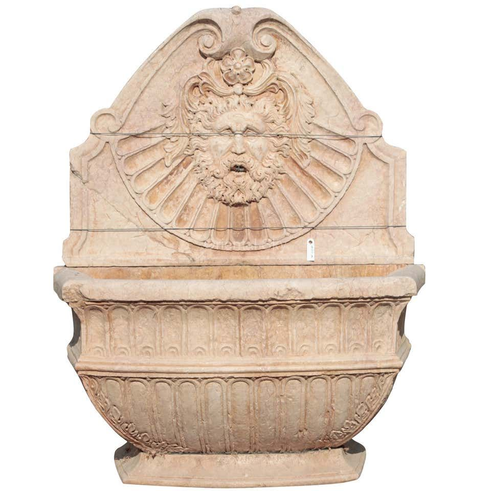 Italy Beige Marble Stone Garden Wall Fountain